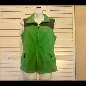 CHAMPION Fleece Vest Med Sleeveless Jacket pockets